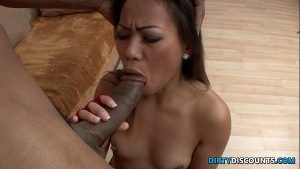 Brunette Asian Babe Having A BBC In Her Warm Mouth