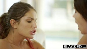 Two Horny Sluts Sucking A BBC And Getting Banged In Turns