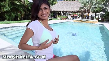 Mia Khalifa Strips Slowly And Gets Pounded Hard